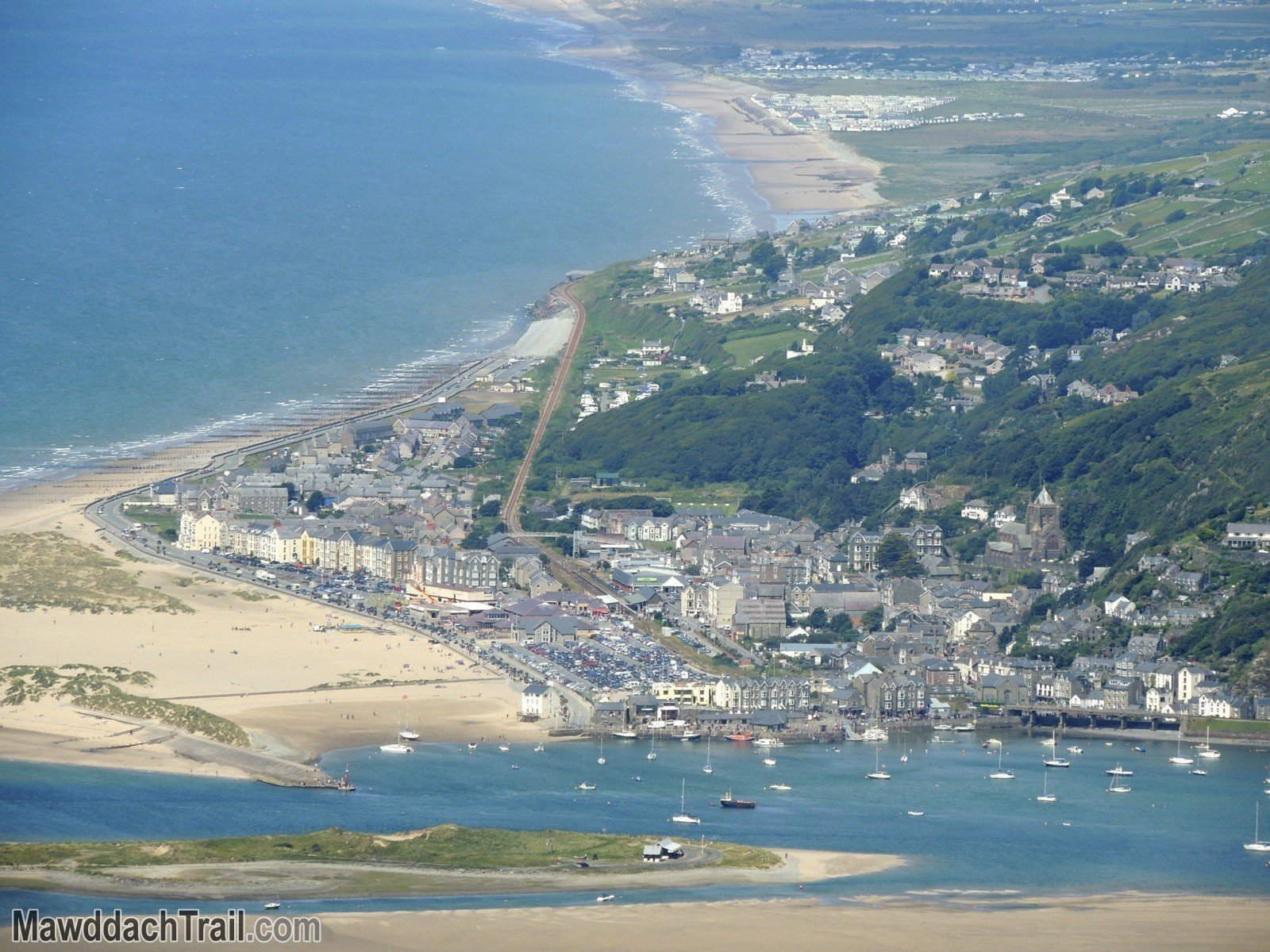 Barmouth from Ffordd Ddu (The Black Road)