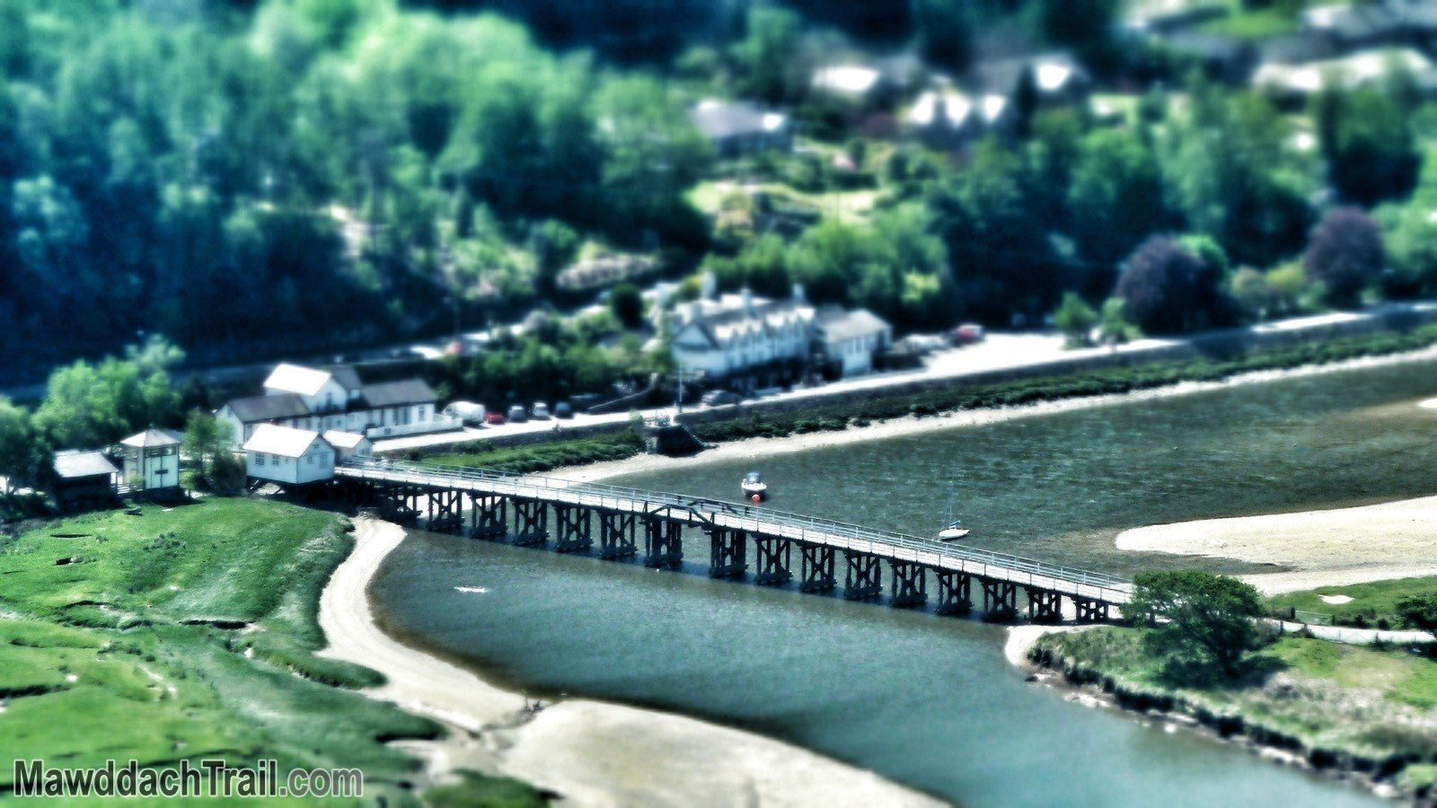 Penmaenpool Bridge from New Precipice Walk