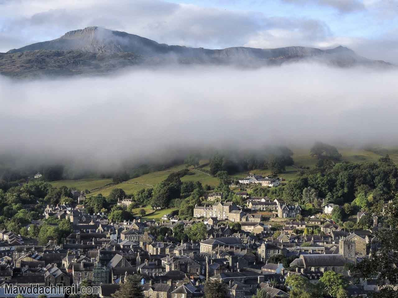 A Blanket of Cloud Between Dolgellau and Cader Idris