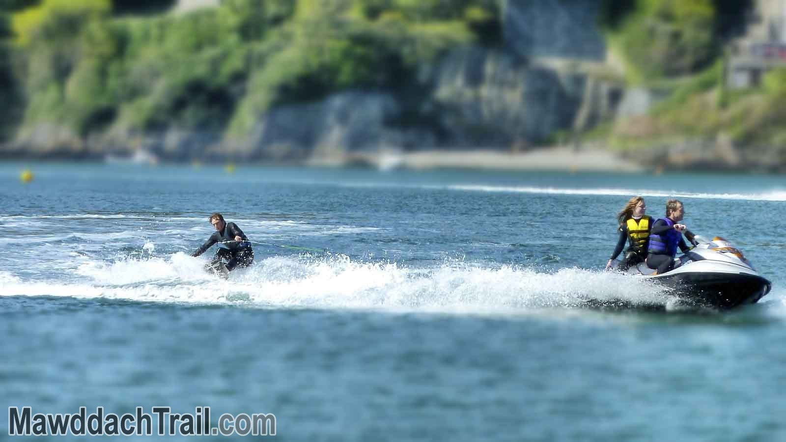 Waterskiing in Barmouth
