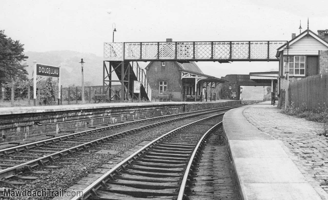 Dolgellau Railway Station Footbridge in 1963