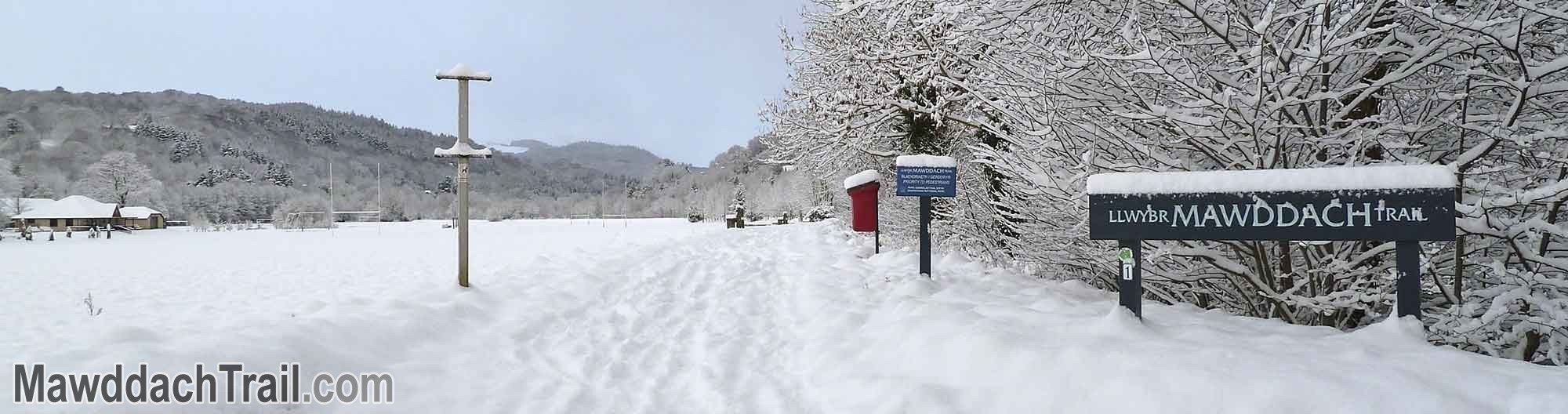 The Mawddach Trail at Dolgellau in the Snow