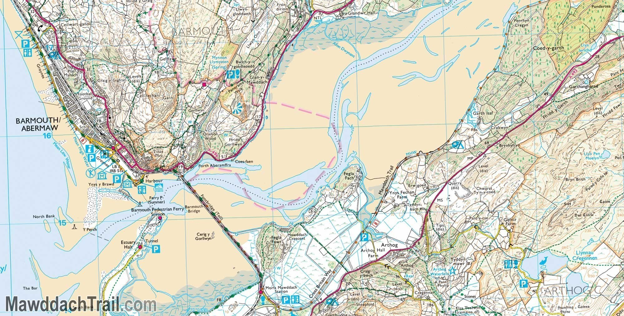 OS Explorer Map - Mawddach Trail (End Section)