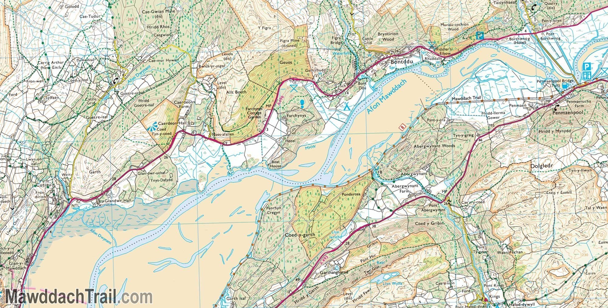 OS Explorer Map - Mawddach Trail (Middle Section)