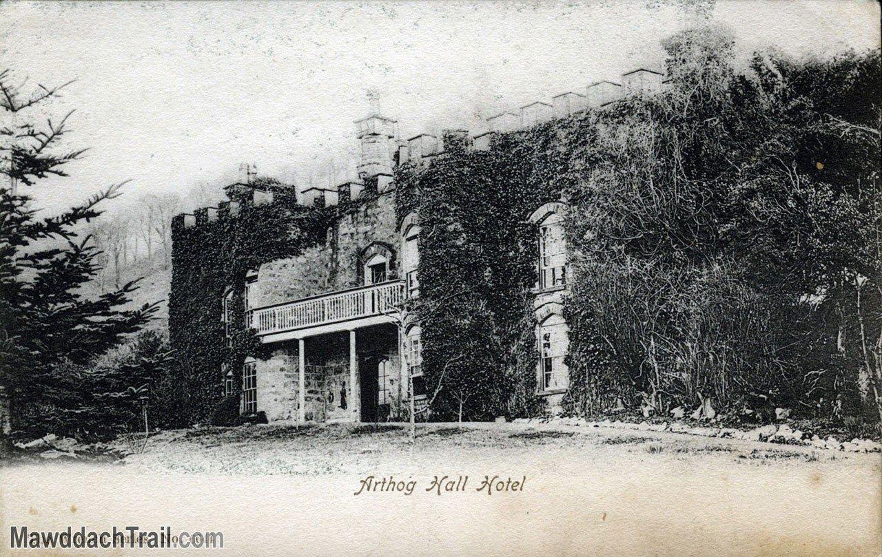 Arthog Hall Hotel Postcard (1900-1906)