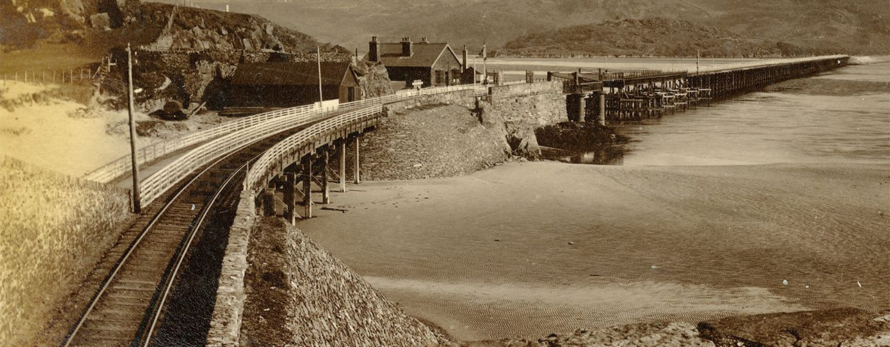 Barmouth Bridge in the 1880s