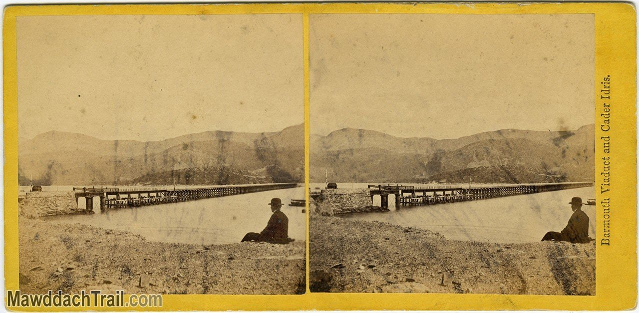 Barmouth Bridge Victorian Stereoscope