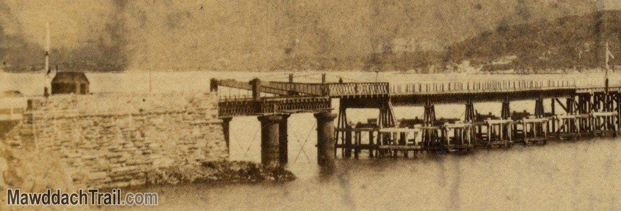 Barmouth Bridge Victorian Stereoscope (Close-Up)