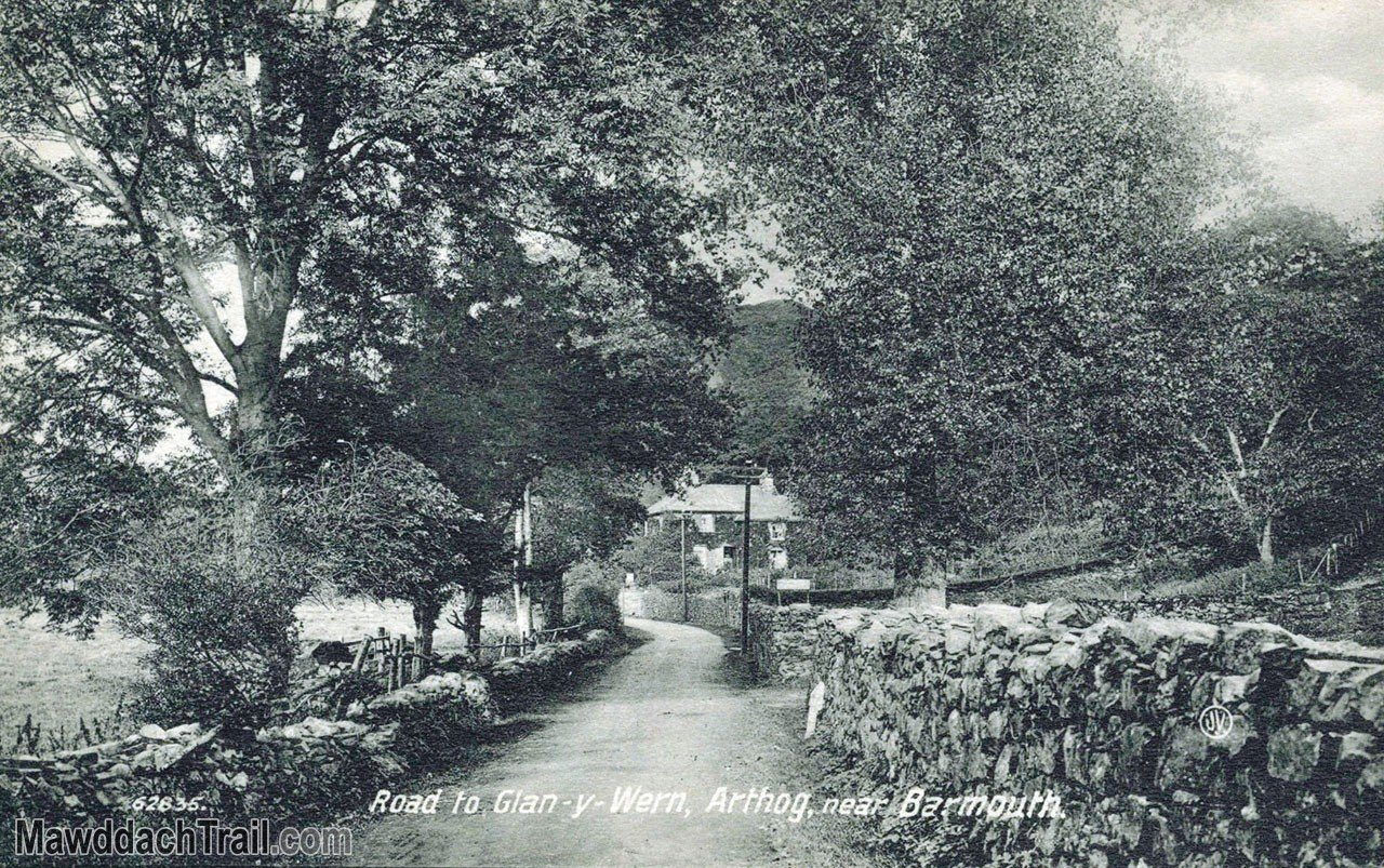 Road to Glan-y-Wern, Arthog Postcard